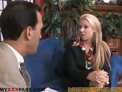 Big Breasted Blonde MILF Carolyn Reese Loving the Hardcore Fuck