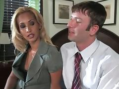 Isis Love the office lady dominates the guy and toys him