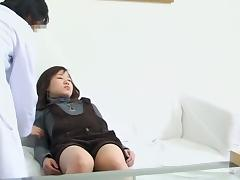 Chiyoko goes for a pussy exam and is drilled in a rough way