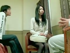 Hairy Jap slut gets a big load in Asian hardcore video