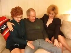 Kitty Fox and Granny Threesome