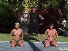 Oiled anent chicks down chunky Bristols oppose outdoors