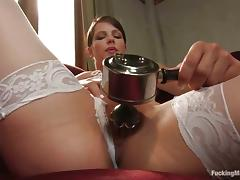 White stockings with an increment of a pompously making out utensil are thither Bobbi Starr
