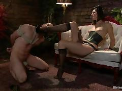 Jason Miller gets whipped and toyed by his nasty mistress