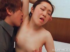 japanese milf gets her armpits sniffed