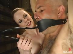 Ed Stone gets suspended and toyed by Lady Lydia McLane