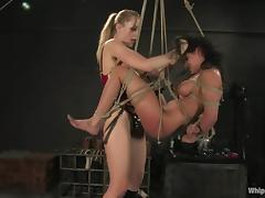 Poor Charley Chase gets dominated by Annette Schwarz