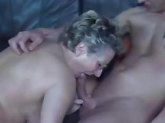 Granny screwed by tattooed boy-friend