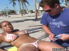 Incredible Tatiana Goes Hardcore After Tanning On The Beach