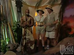 African tribe warrior is fucking a National Geographic scientist
