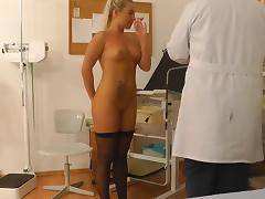 Gyno doctor is fucking this alluring blonde