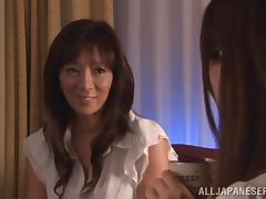 Horny Asian MILF Toys Her Hairy Wet Pussy With A Vibrator