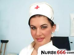 Czech nurse Rihanna Samuel uniform fetish