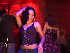 Horny Babes Get Wild In The Club And Flash Their Hot Bodies In Public