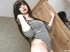 Adorable Layla Seget Touches Herself Lying On The Floor